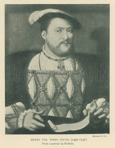 Henry VIII when Young (1491–1547). Illustration for London in the Time of the Tudors by Sir Walter Besant (A & C Black, 1904).