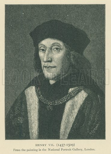 Henry VII(1457–1509). Illustration for London in the Time of the Tudors by Sir Walter Besant (A & C Black, 1904).