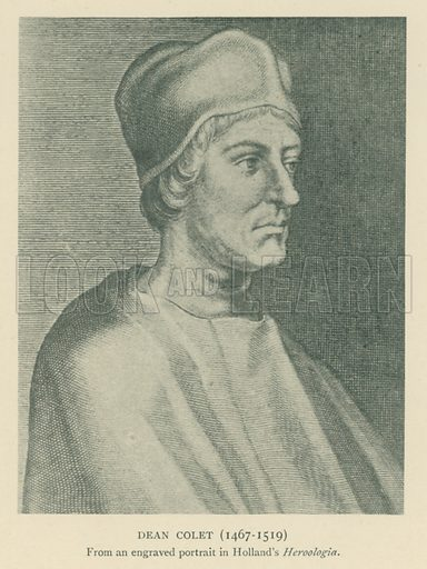 Dean Colet (1467–1519). Illustration for London in the Time of the Tudors by Sir Walter Besant (A & C Black, 1904).