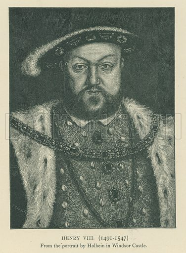 Henry VIII(1491–1547). Illustration for London in the Time of the Tudors by Sir Walter Besant (A & C Black, 1904).