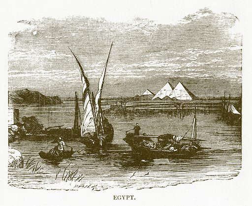 Egypt. Illustration for Aunt Louisa's Book of Common Things by L Valentine (Frederick Warne, c 1880).