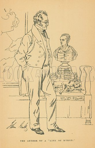 John Galt. Illustration for The Maclise Portrait Gallery of Illustrious Literary Characters by William Bates (Chatto and Windus, 1896).