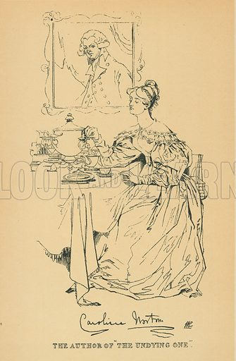 Caroline Norton. Illustration for The Maclise Portrait Gallery of Illustrious Literary Characters by William Bates (Chatto and Windus, 1896).