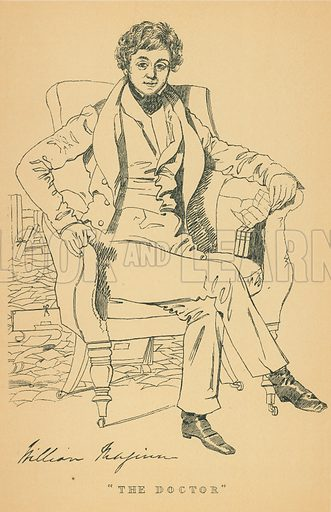 William Maginn. Illustration for The Maclise Portrait Gallery of Illustrious Literary Characters by William Bates (Chatto and Windus, 1896).