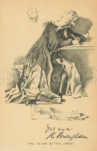 The Lord Brougham and Vaux. Illustration for The Maclise Portrait Gallery of Illustrious Literary Characters by William Bates (Chatto and Windus, 1896).