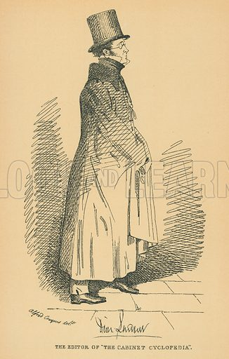 Reverend Doctor Lardner. Illustration for The Maclise Portrait Gallery of Illustrious Literary Characters by William Bates (Chatto and Windus, 1896).