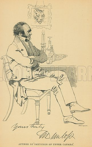 William Dunlop. Illustration for The Maclise Portrait Gallery of Illustrious Literary Characters by William Bates (Chatto and Windus, 1896).