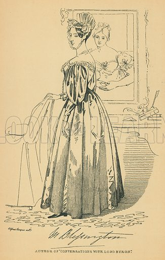 Countess of Blessington. Illustration for The Maclise Portrait Gallery of Illustrious Literary Characters by William Bates (Chatto and Windus, 1896).