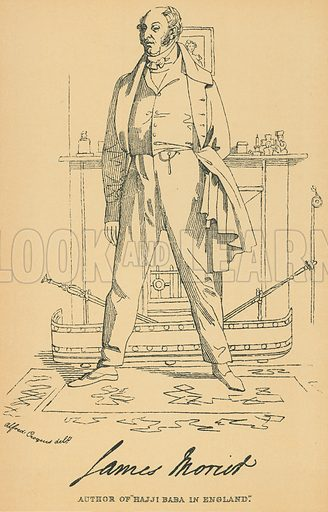 James Morier. Illustration for The Maclise Portrait Gallery of Illustrious Literary Characters by William Bates (Chatto and Windus, 1896).