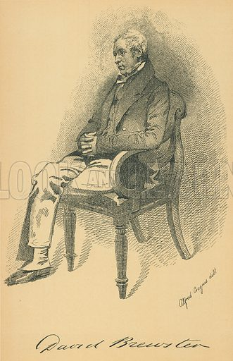 Sir David Brewster. Illustration for The Maclise Portrait Gallery of Illustrious Literary Characters by William Bates (Chatto and Windus, 1896).