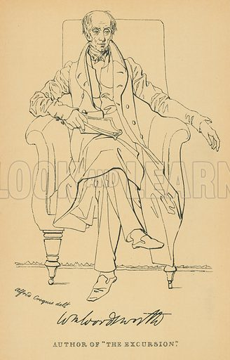 William Wordsworth. Illustration for The Maclise Portrait Gallery of Illustrious Literary Characters by William Bates (Chatto and Windus, 1896).