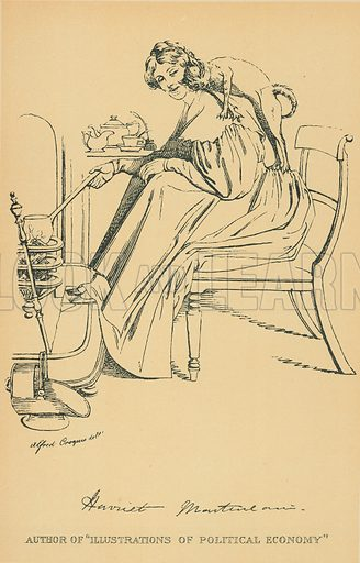 Miss Harriet Martineau. Illustration for The Maclise Portrait Gallery of Illustrious Literary Characters by William Bates (Chatto and Windus, 1896).