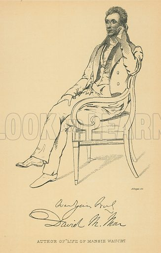 Doctor David Moir. Illustration for The Maclise Portrait Gallery of Illustrious Literary Characters by William Bates (Chatto and Windus, 1896).