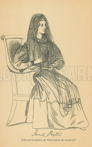 Miss Jane Porter. Illustration for The Maclise Portrait Gallery of Illustrious Literary Characters by William Bates (Chatto and Windus, 1896).