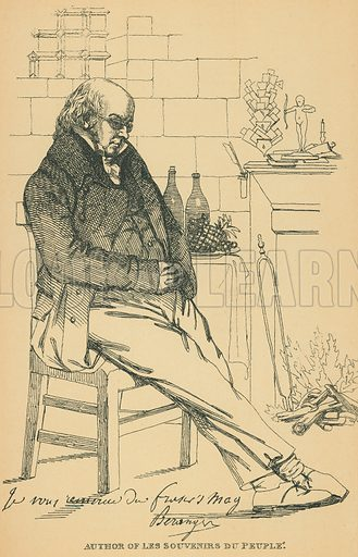Pierre-Jean de Beranger. Illustration for The Maclise Portrait Gallery of Illustrious Literary Characters by William Bates (Chatto and Windus, 1896).