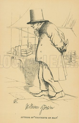 William Godwin. Illustration for The Maclise Portrait Gallery of Illustrious Literary Characters by William Bates (Chatto and Windus, 1896).