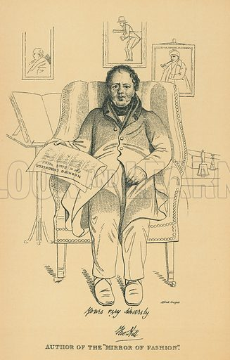 Thomas Hill. Illustration for The Maclise Portrait Gallery of Illustrious Literary Characters by William Bates (Chatto and Windus, 1896).