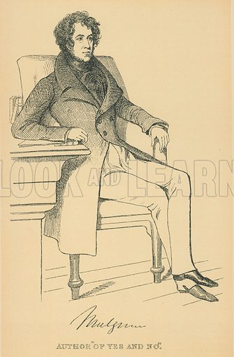 Earl of Mulgrave. Illustration for The Maclise Portrait Gallery of Illustrious Literary Characters by William Bates (Chatto and Windus, 1896).