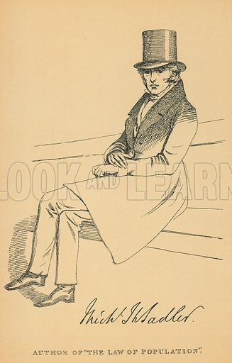 Michael Thomas Sadler. Illustration for The Maclise Portrait Gallery of Illustrious Literary Characters by William Bates (Chatto and Windus, 1896).