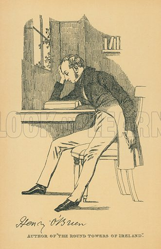 Henry O'Brien. Illustration for The Maclise Portrait Gallery of Illustrious Literary Characters by William Bates (Chatto and Windus, 1896).