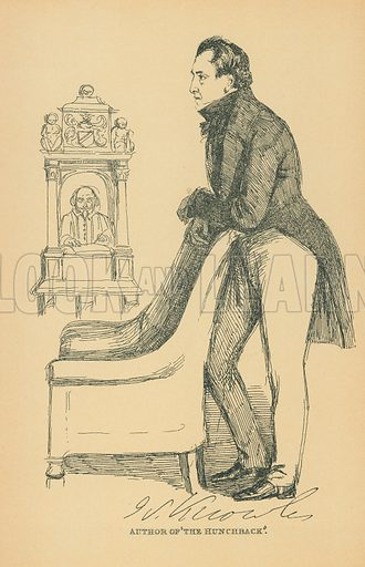 Sheridan Knowles. Illustration for The Maclise Portrait Gallery of Illustrious Literary Characters by William Bates (Chatto and Windus, 1896).