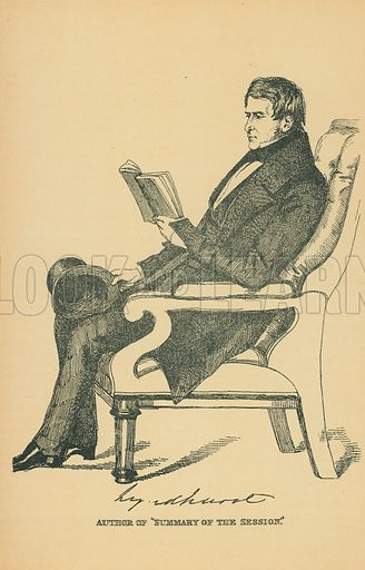 Lord Lyndhurst. Illustration for The Maclise Portrait Gallery of Illustrious Literary Characters by William Bates (Chatto and Windus, 1896).