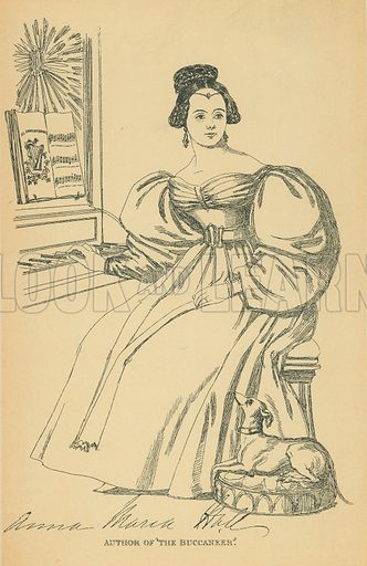 Mrs SC Hall. Illustration for The Maclise Portrait Gallery of Illustrious Literary Characters by William Bates (Chatto and Windus, 1896).