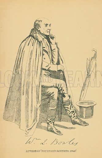 Rev William Lisle Bowles. Illustration for The Maclise Portrait Gallery of Illustrious Literary Characters by William Bates (Chatto and Windus, 1896).