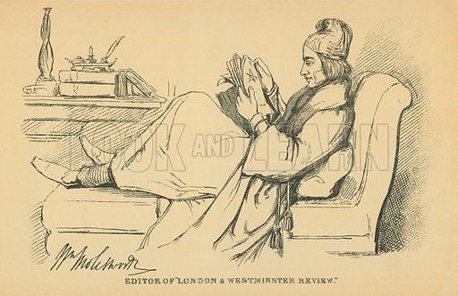 Sir William Moleaworth. Illustration for The Maclise Portrait Gallery of Illustrious Literary Characters by William Bates (Chatto and Windus, 1896).