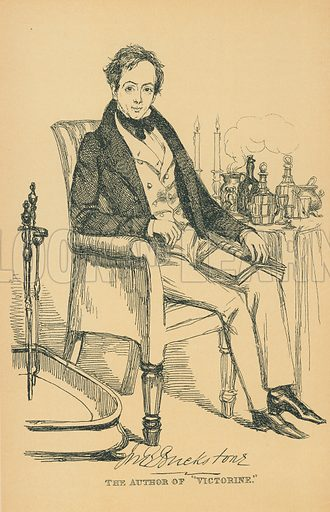 John Baldwin Buckstone. Illustration for The Maclise Portrait Gallery of Illustrious Literary Characters by William Bates (Chatto and Windus, 1896).