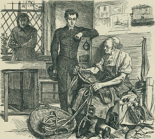 The Fortunes of the Granbys. Sunday at Home, 1866. From Illustrators of the Sixties by Forrest Reid (Faber, 1928).