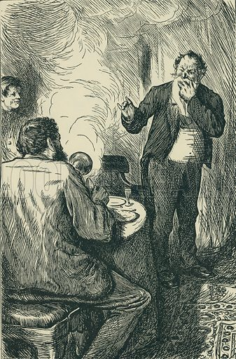 Smoking Strictly Prohibited. London Society, 1868. From Illustrators of the Sixties by Forrest Reid (Faber, 1928).