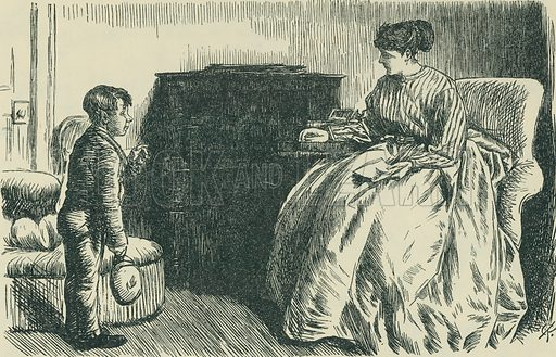 Proof Positive. Punch, 1868. From Illustrators of the Sixties by Forrest Reid (Faber, 1928).