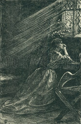 Irene. The Cornhill Magazine, 1862. From Illustrators of the Sixties by Forrest Reid (Faber, 1928).
