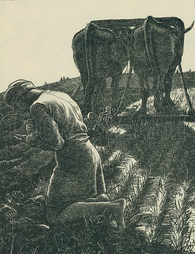 The Hidden Treasure. The Parables of Our Lord. From Illustrators of the Sixties by Forrest Reid (Faber, 1928).