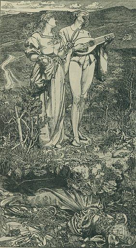 Amor Mundi. The Shilling Magazine, 1865. From Illustrators of the Sixties by Forrest Reid (Faber, 1928).