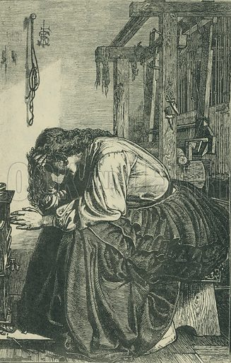 The Waiting Time. The Churchman's Family Magazine, 1863. From Illustrators of the Sixties by Forrest Reid (Faber, 1928).