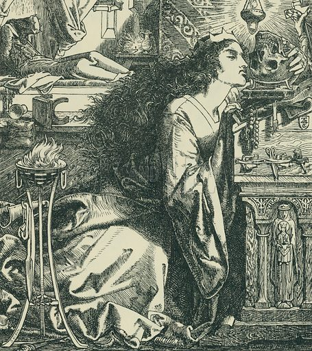 Rosamond, Queen of the Lombards. Once a Week, 1861. From Illustrators of the Sixties by Forrest Reid (Faber, 1928).