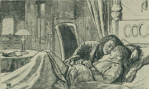 At Night. Once a Week, 1860. From Illustrators of the Sixties by Forrest Reid (Faber, 1928).