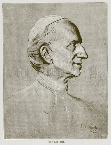 Pope Leo XIII. Illustration for The Life and Times of The Marquis of Salisbury by S H Jeyes (Virtue, c 1895).