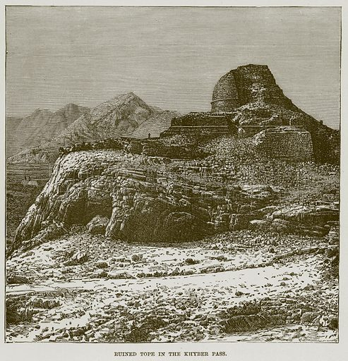 Ruined Tope in the Khyber Pass. Illustration for The Life and Times of The Marquis of Salisbury by S H Jeyes (Virtue, c 1895).