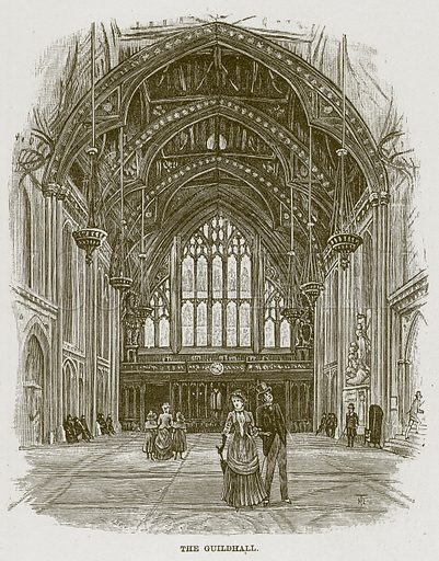 The Guildhall. Illustration for The Life and Times of The Marquis of Salisbury by S H Jeyes (Virtue, c 1895).