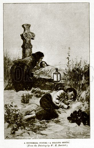 A Connemara Custom.--A Healing Shrine. Illustration for The Life and Times of The Marquis of Salisbury by S H Jeyes (Virtue, c 1895).