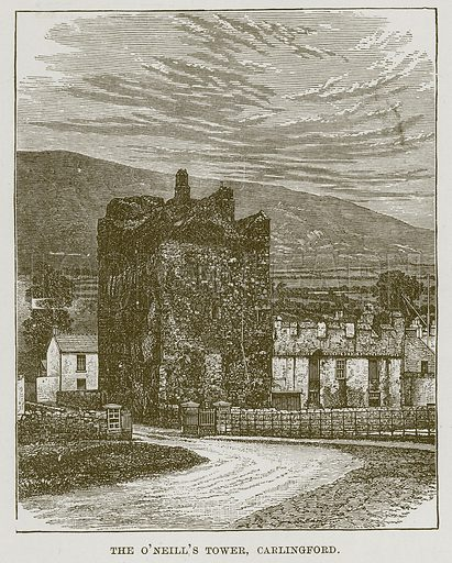 The O'Neill's Tower, Carlingford. Illustration for The Life and Times of The Marquis of Salisbury by SH Jeyes (Virtue, c 1895).