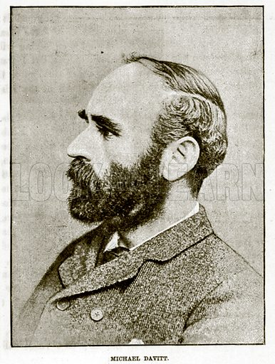 Michael Davitt. Illustration for The Life and Times of The Marquis of Salisbury by SH Jeyes (Virtue, c 1895).