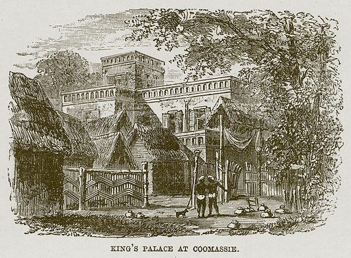 King's Palace at Coomassie. Illustration for The Life and Times of The Marquis of Salisbury by SH Jeyes (Virtue, c 1895).