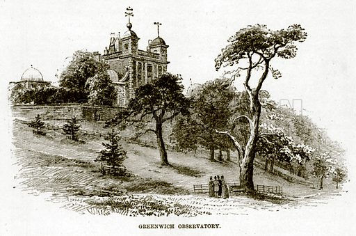 Greenwich Observatory. Illustration for The Life and Times of The Marquis of Salisbury by S H Jeyes (Virtue, c 1895).