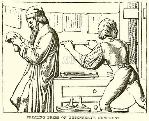 Printing Press on Gutenberg's Monument
