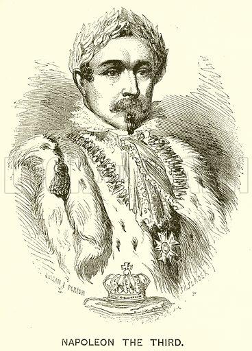 Napoleon the Third. Illustration for The Boy's Own Magazine (Beeton, c 1865).