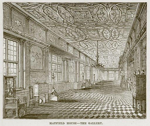 Hatfield House – The Gallery. Illustration for The Life and Times of The Marquis of Salisbury by SH Jeyes (Virtue, c 1895).
